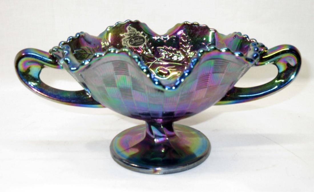 Carnival Glass Bowl w/ Handles