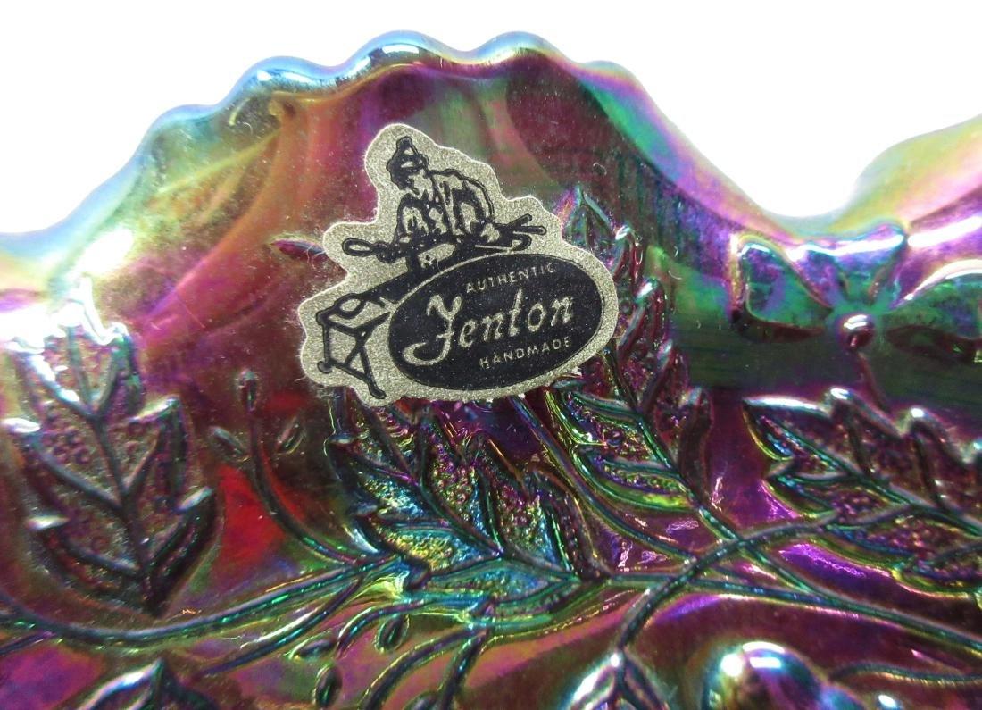 Carnival Glass Bowl w/ Handles - 2