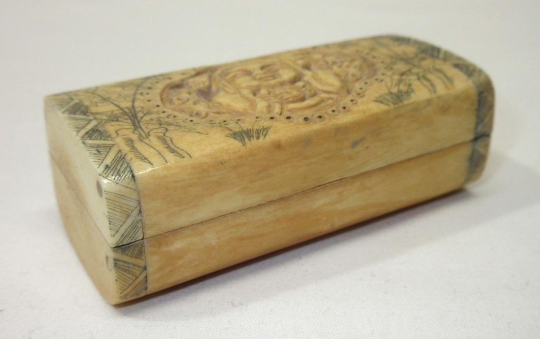 Oriental Carved Bone Box