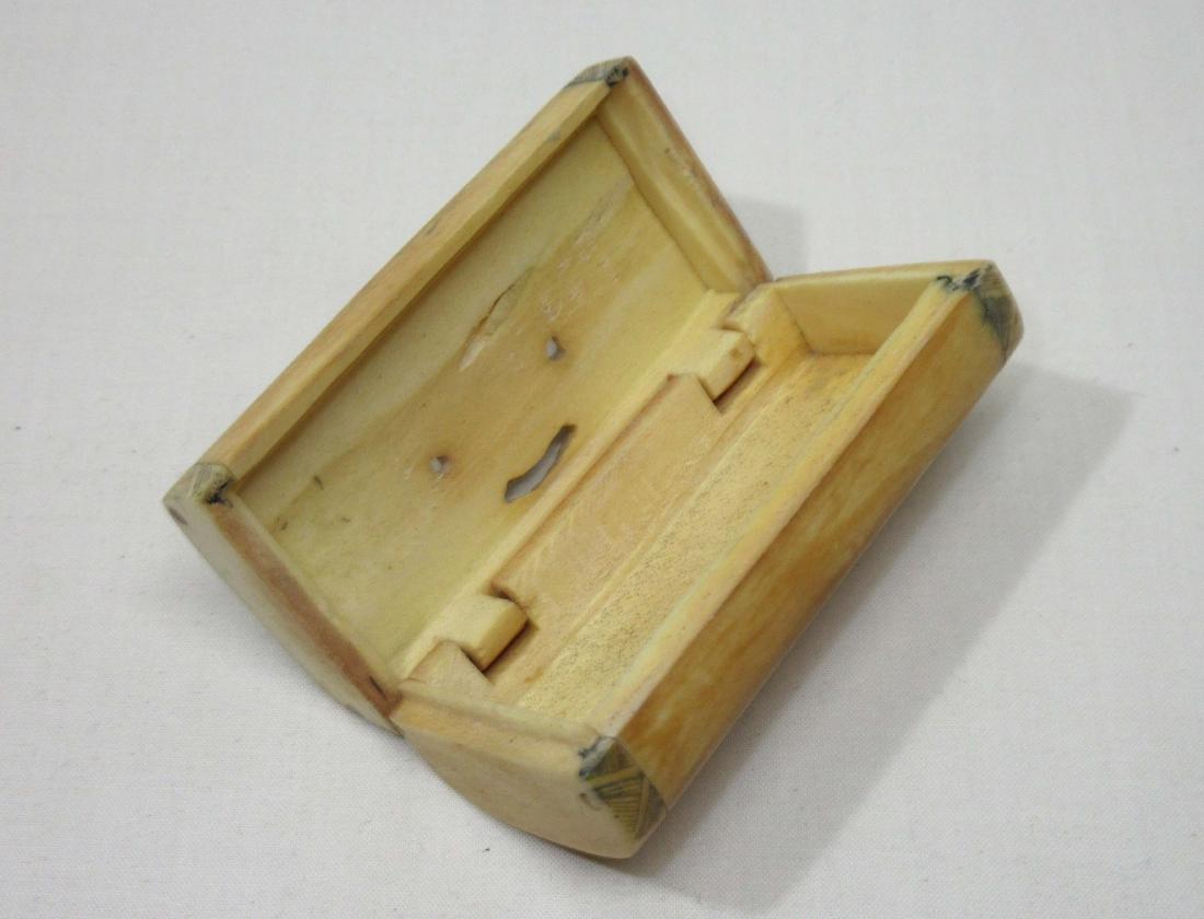 Oriental Carved Bone Box - 3