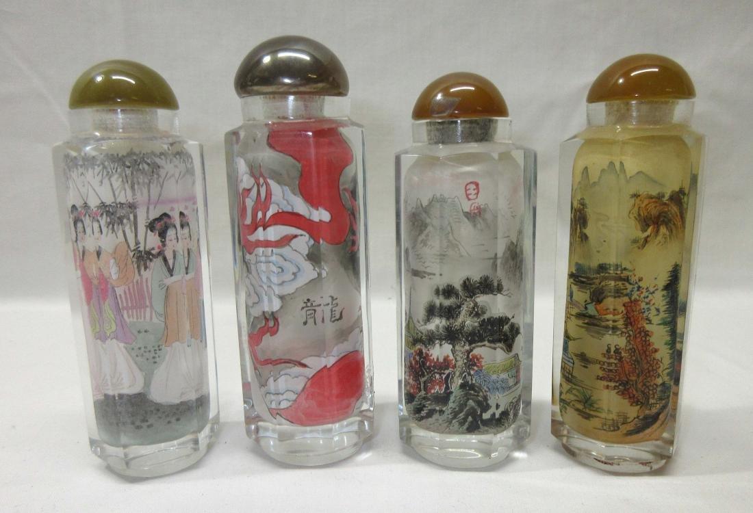 4 Oriental Snuff Bottles