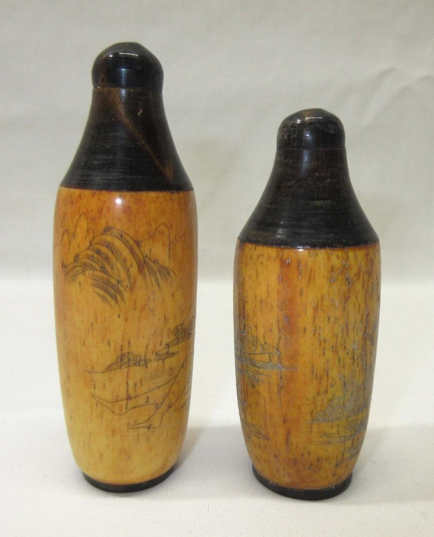2 Oriental Erotic Snuff Bottles - 3