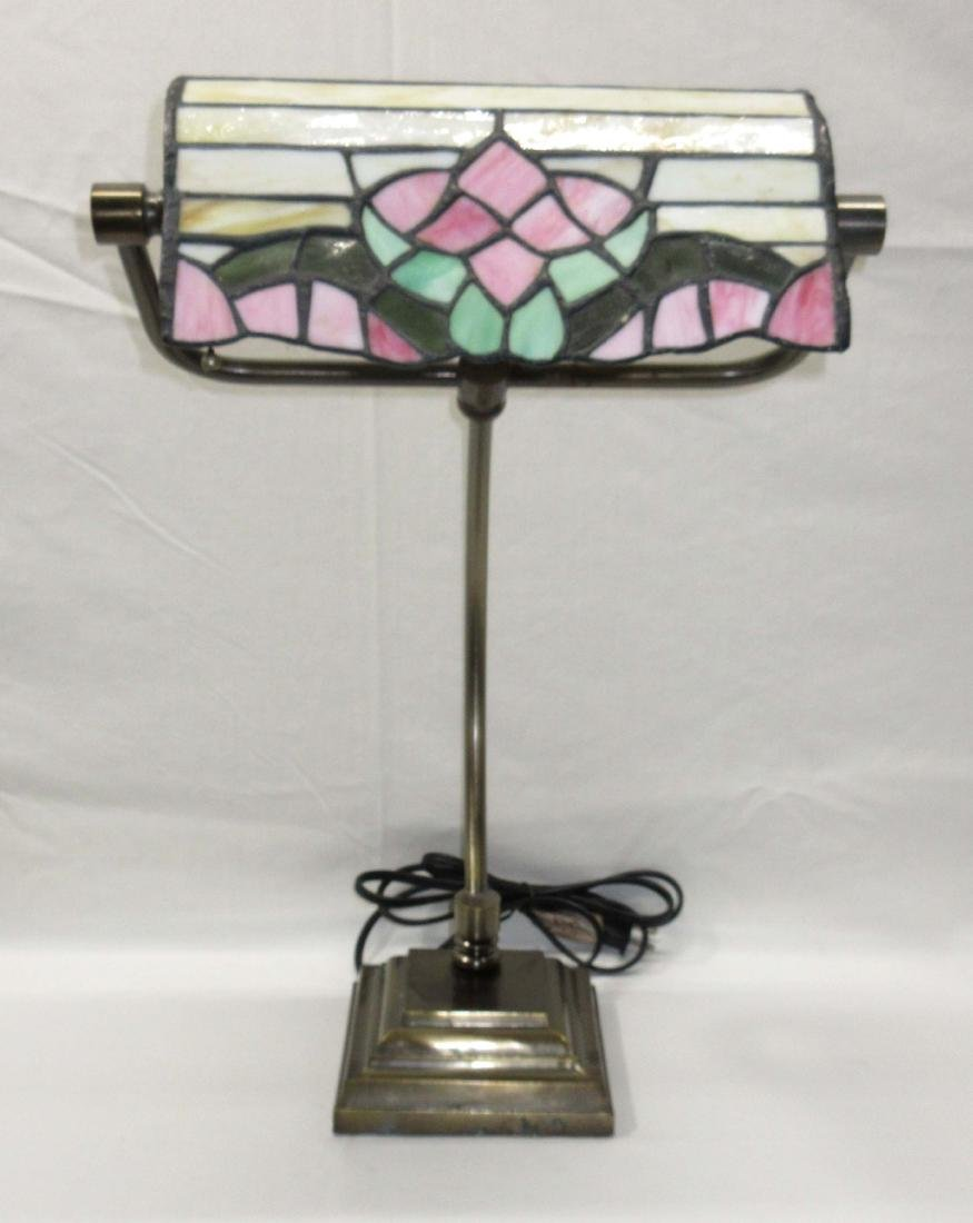 Leaded Glass Desk Lamp
