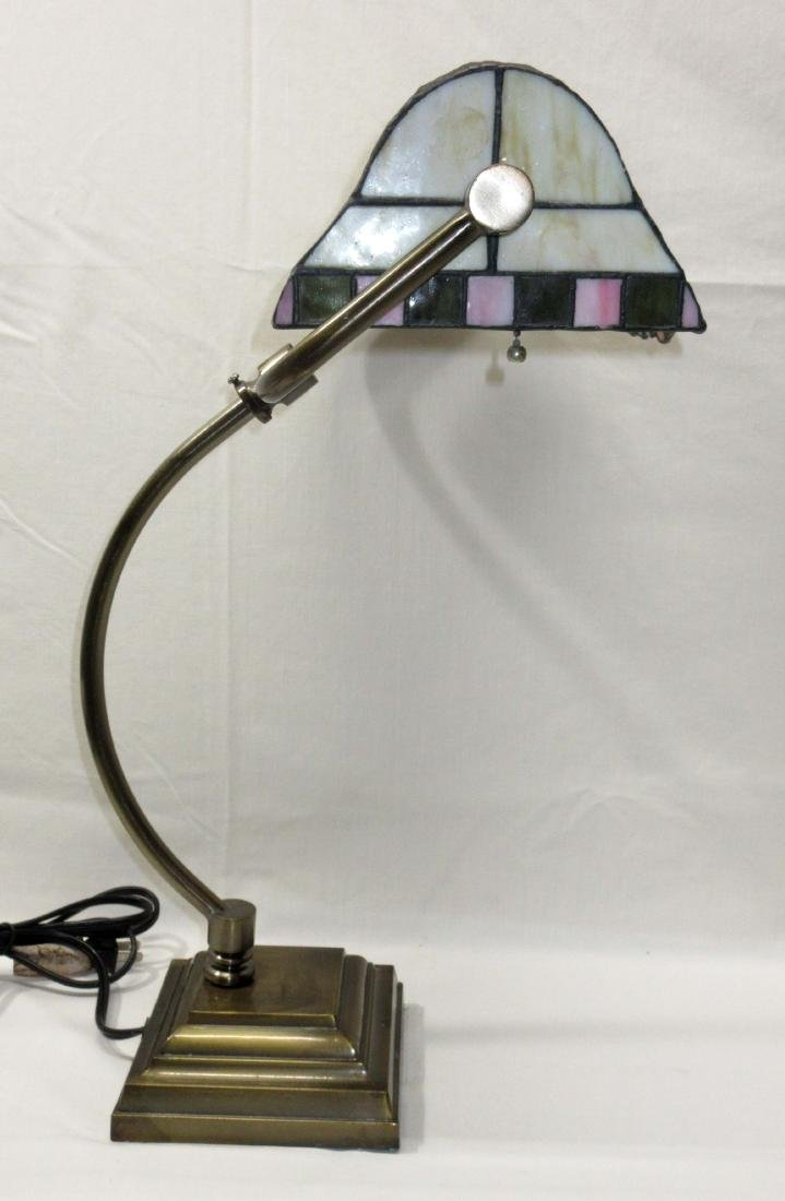 Leaded Glass Desk Lamp - 3