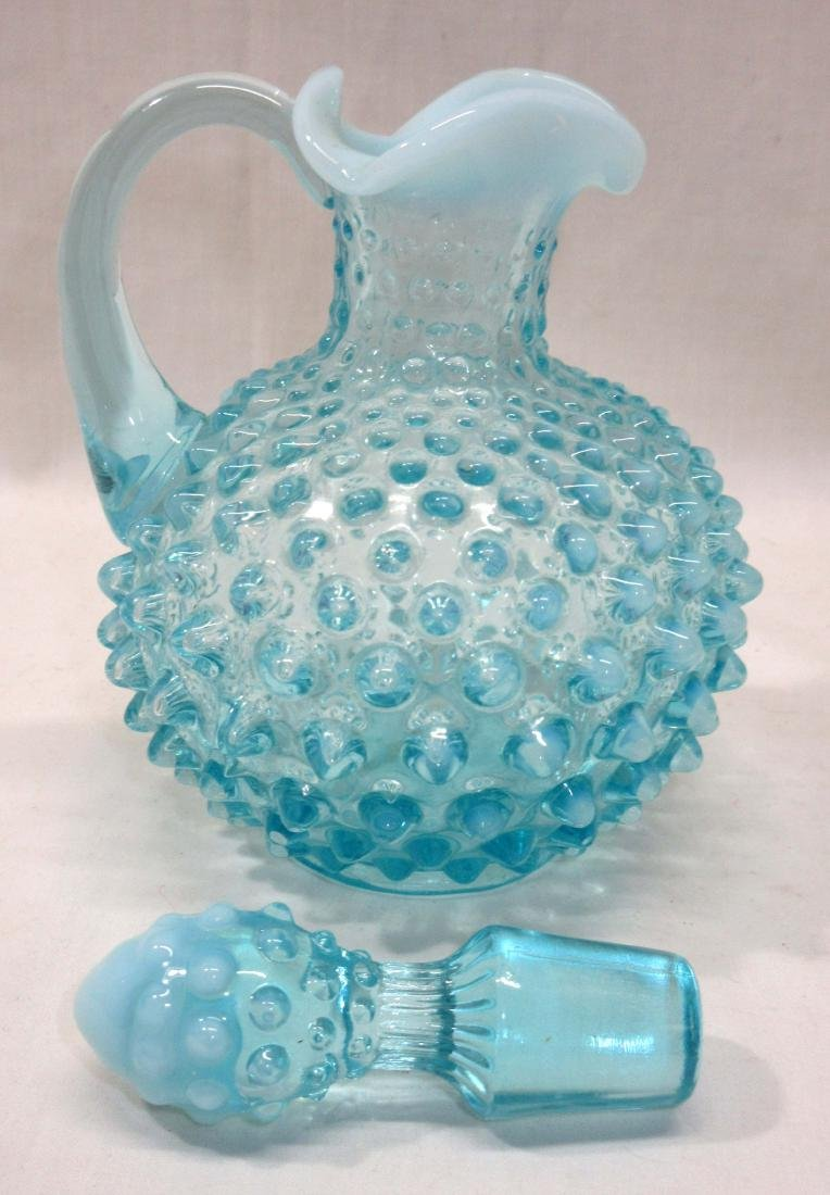 Blue Opal Hobnail Cruet - 2