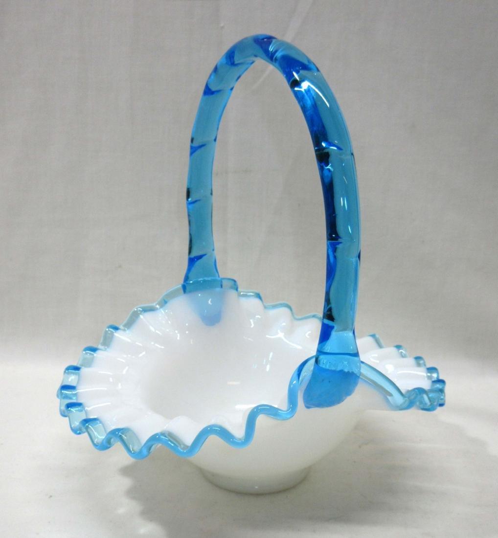 Fenton Blue Crest Basket