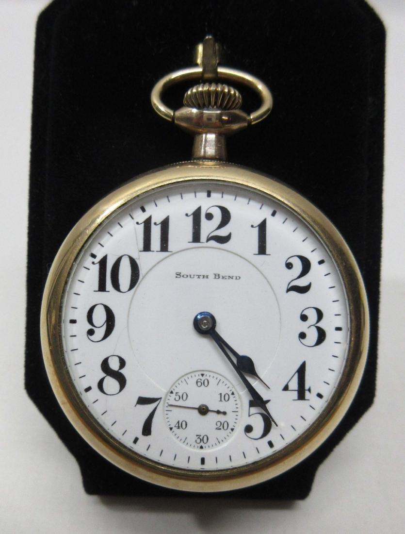 19j South Bend Pocket Watch Sz 16