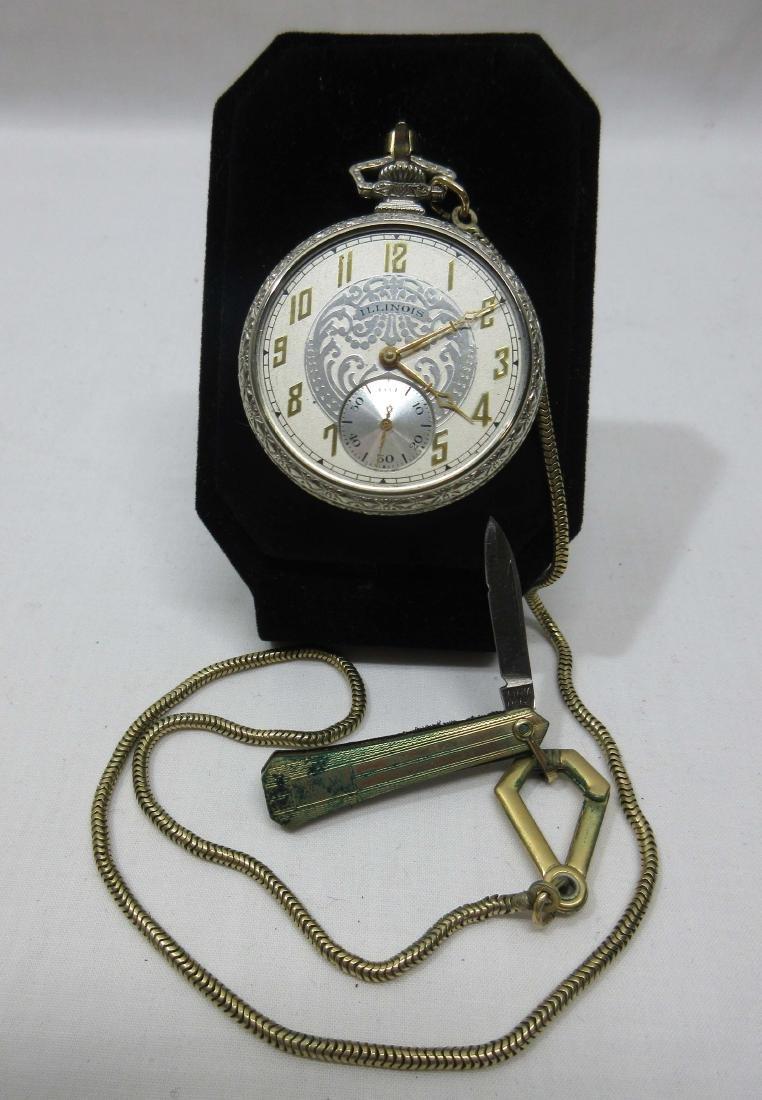 19j Illinois Pocket Watch Sz 12