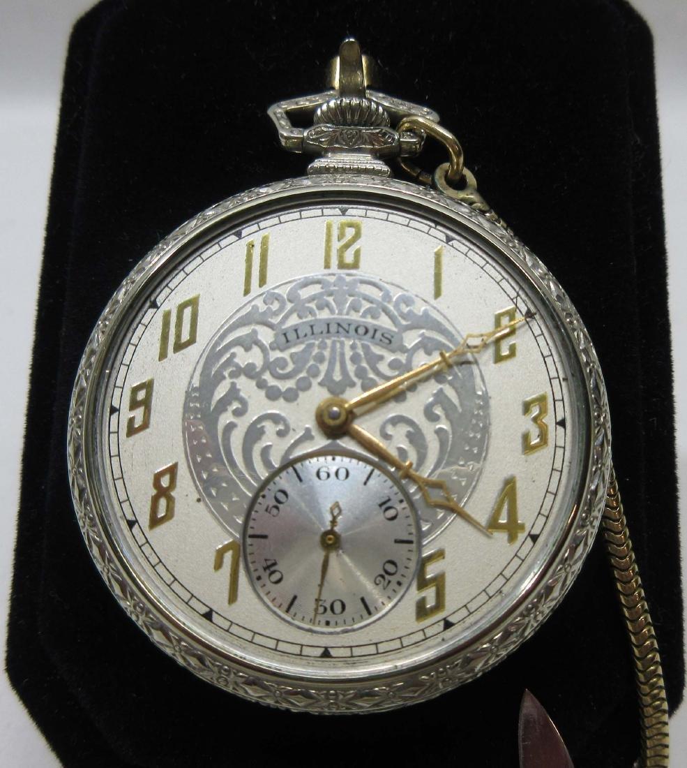19j Illinois Pocket Watch Sz 12 - 2