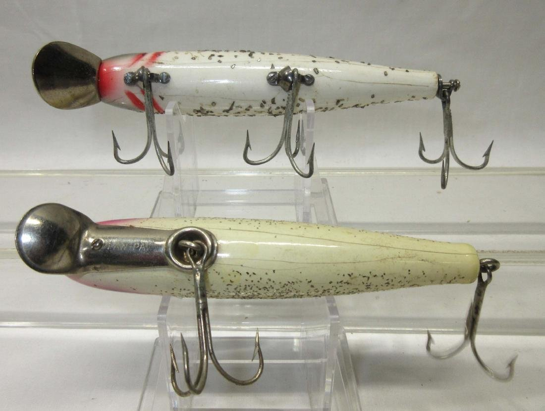 2 Vintage Wooden Paw Paw Fishing Lures - 2