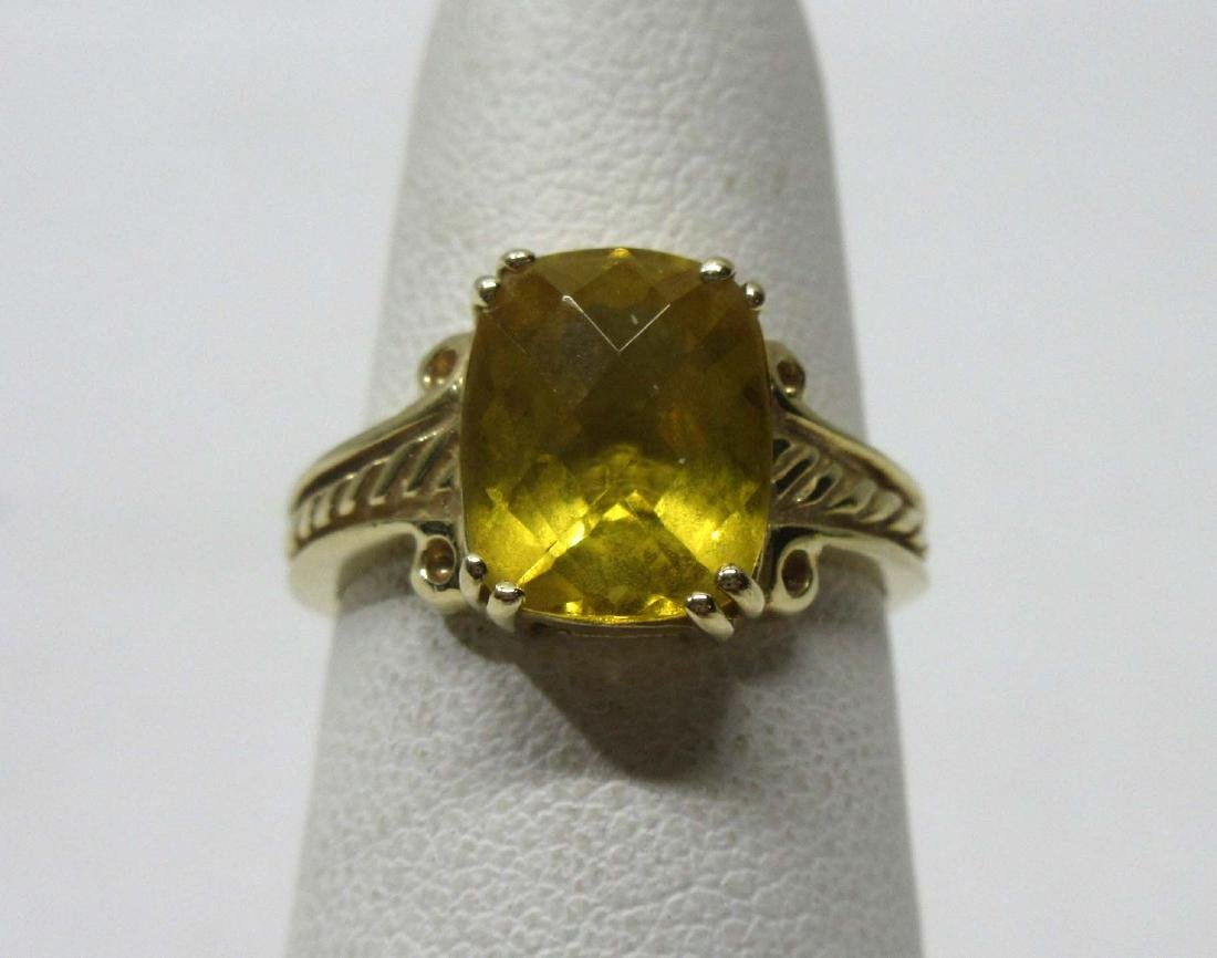 14K Gold Citrine Ring Sz 5, 2.8g