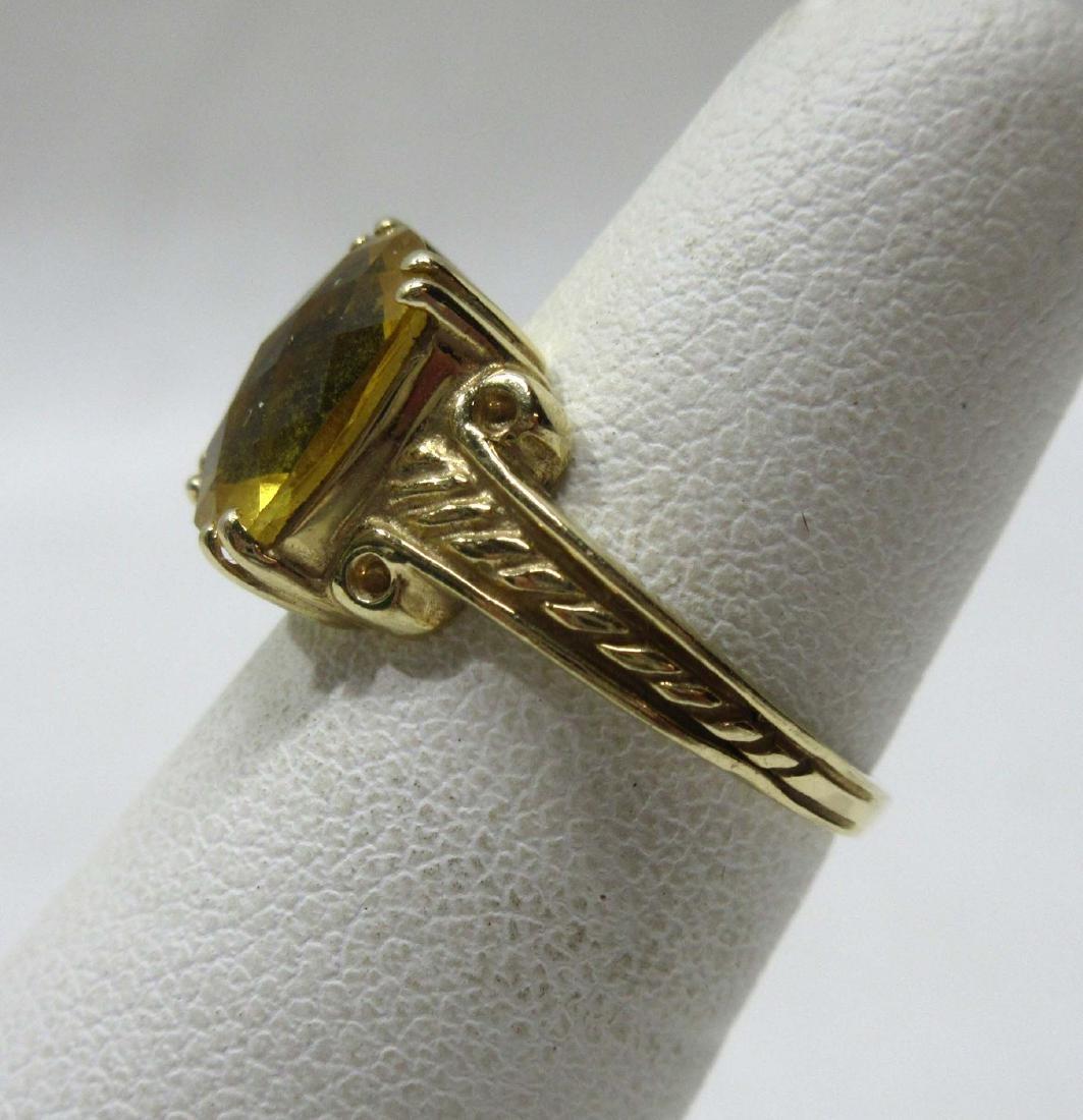 14K Gold Citrine Ring Sz 5, 2.8g - 2