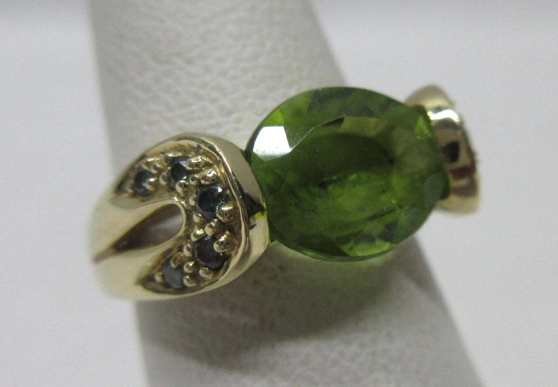 14K Gold Emerald Ring Sz 5, 3.4g
