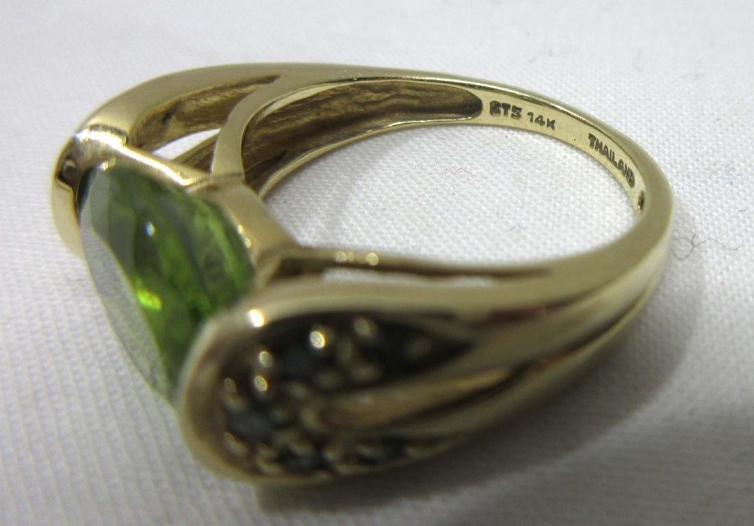 14K Gold Emerald Ring Sz 5, 3.4g - 3