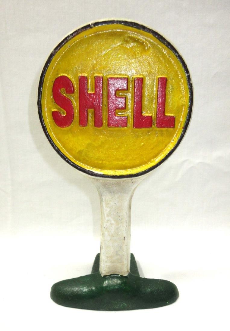 Modern C.I. Shell Oil Door Stop
