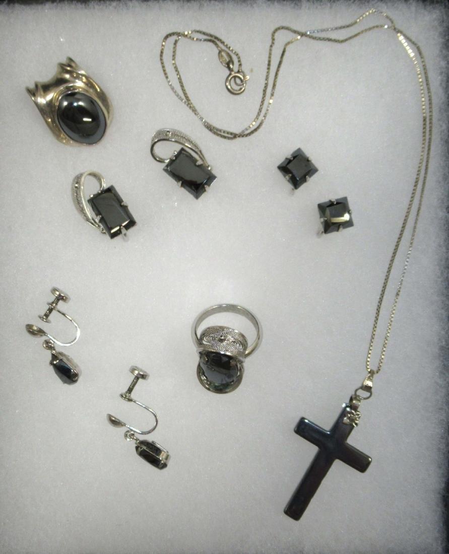 Sterling Hematite Jewelry, 6pc