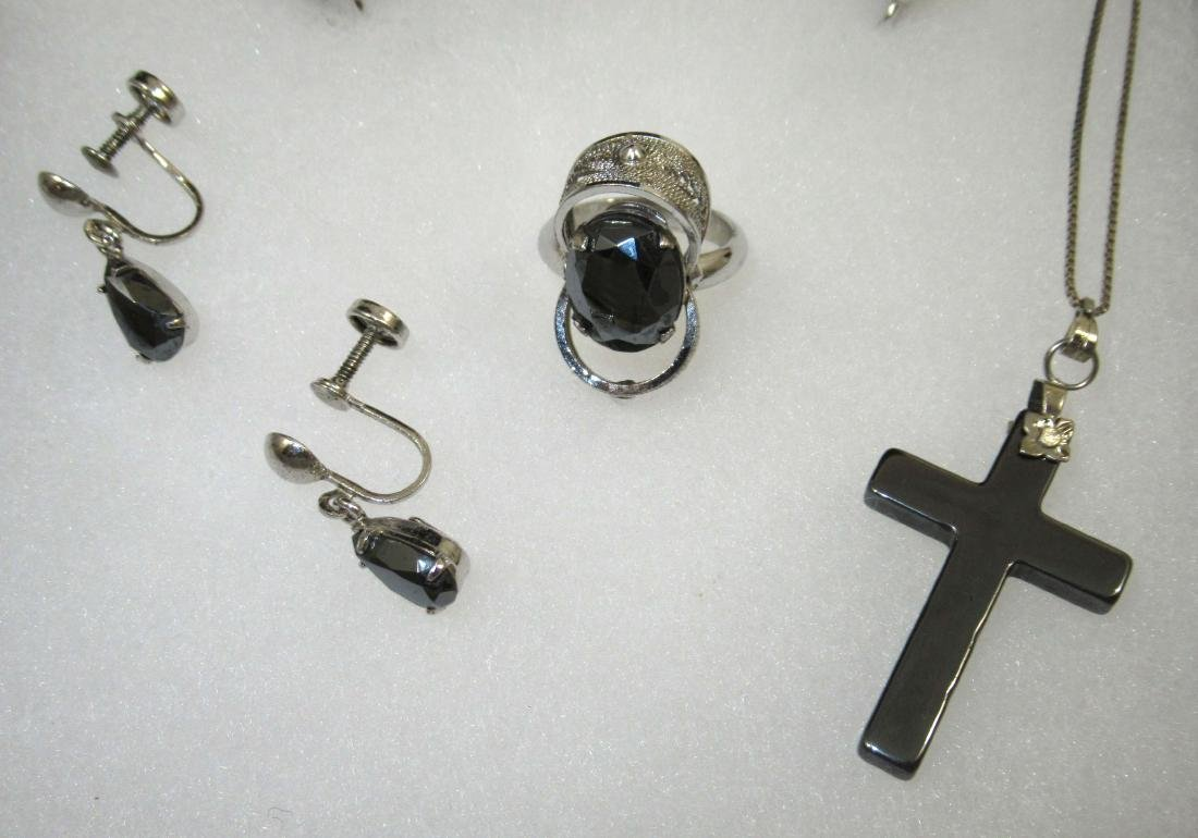 Sterling Hematite Jewelry, 6pc - 2