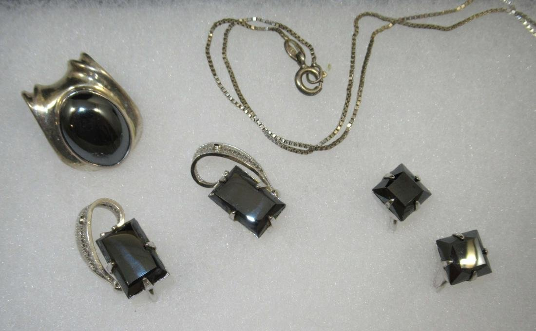 Sterling Hematite Jewelry, 6pc - 3