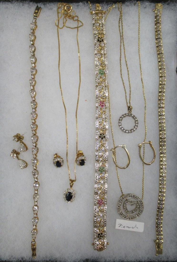 Sterling, Sapphire, Diamond, C.Z. Jewelry