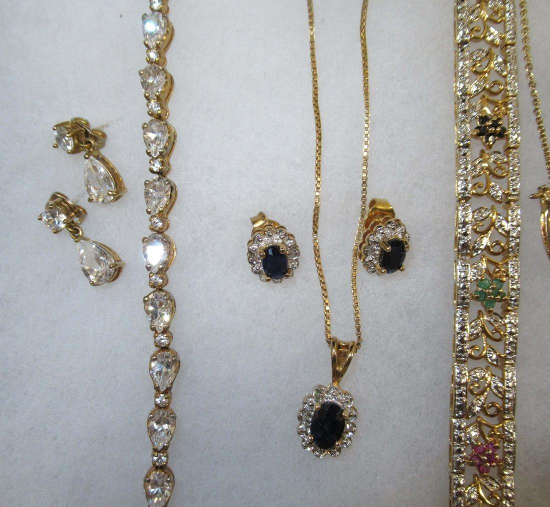 Sterling, Sapphire, Diamond, C.Z. Jewelry - 2