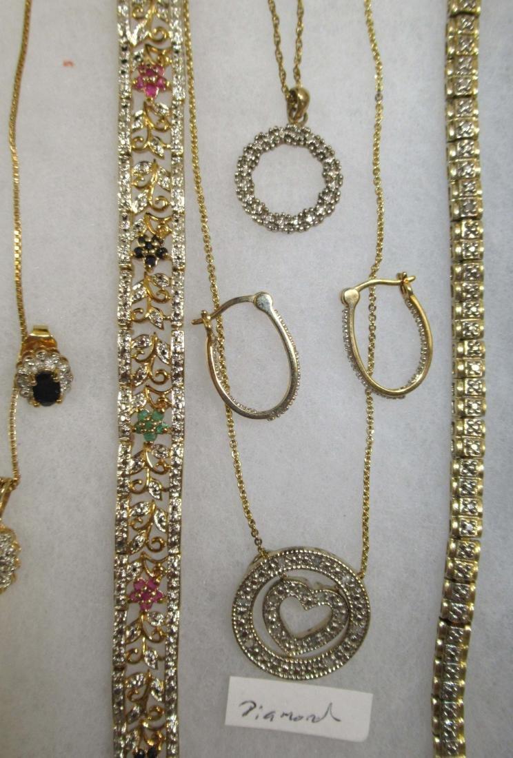 Sterling, Sapphire, Diamond, C.Z. Jewelry - 3