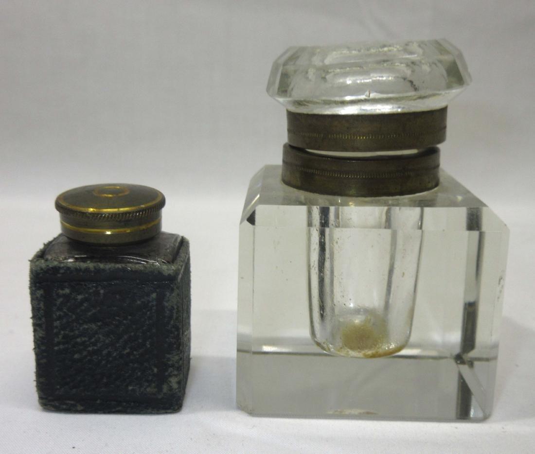 2 19th C. Inkwells