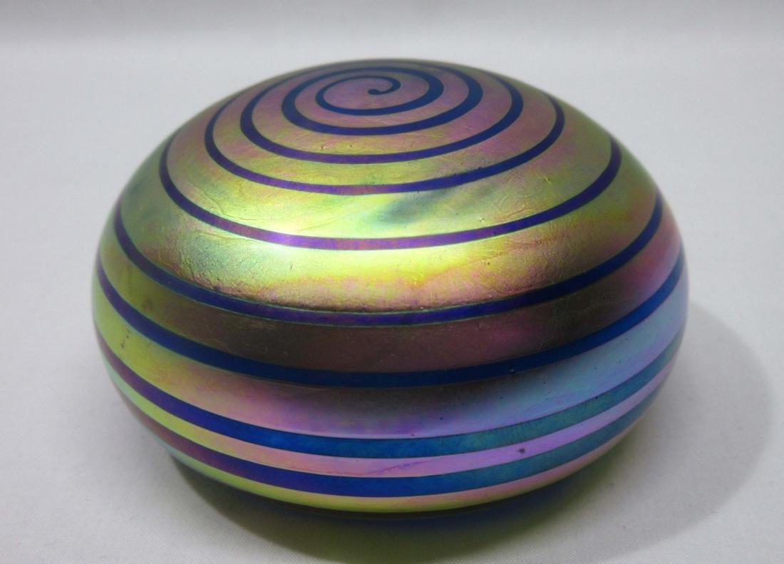 Sgnd Art Glass Paperweight