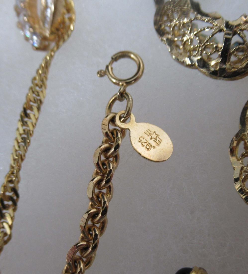 Sterling Vermiel 20pc Jewelry - 5