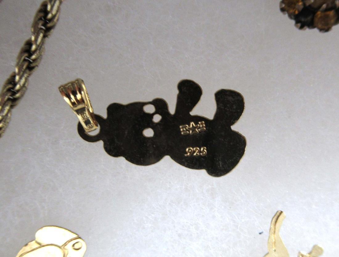 Sterling Vermiel 20pc Jewelry - 6