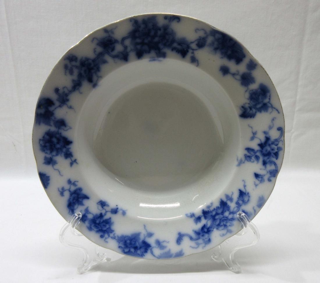 Vict. Flow Blue Soup Bowl