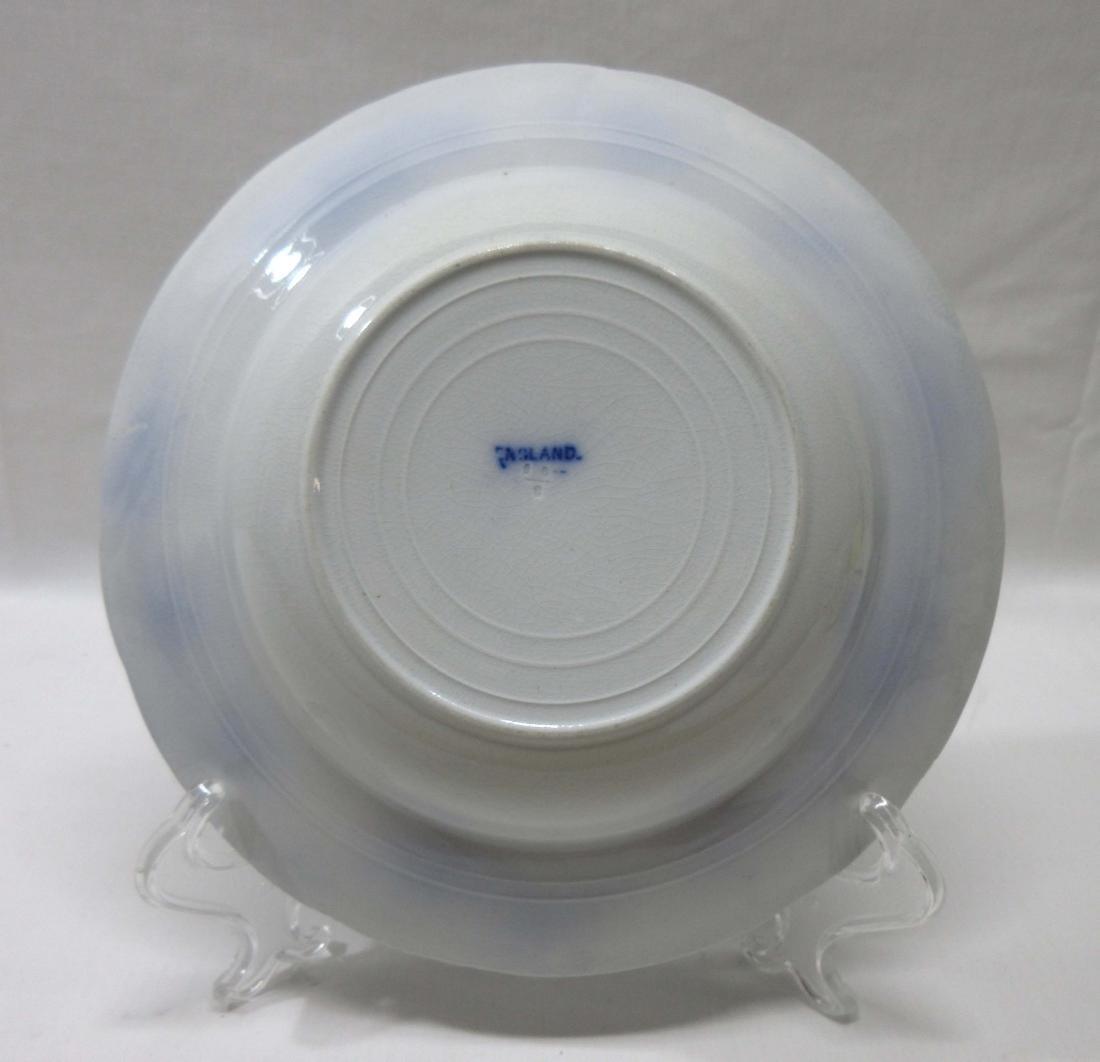 Vict. Flow Blue Soup Bowl - 2