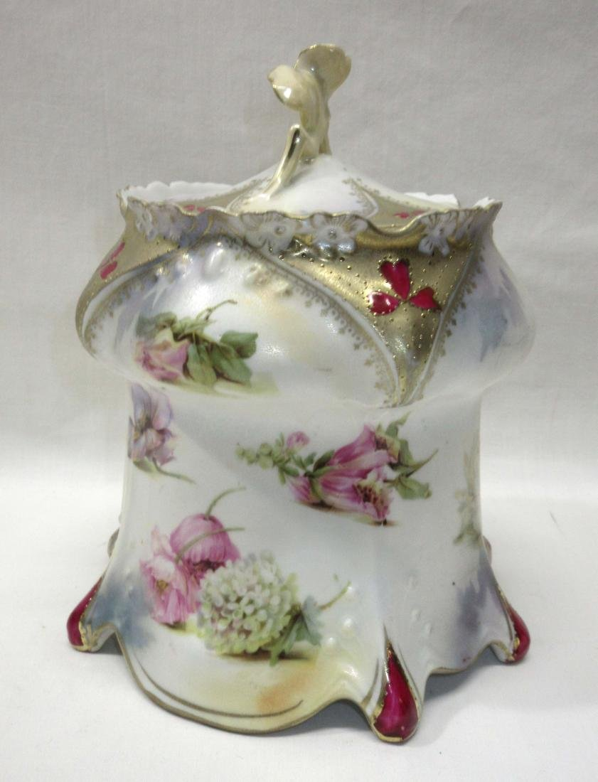 RS Prussia Jeweled Cracker Jar