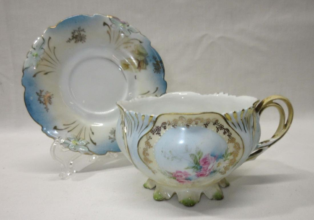 RS Prussia Footed Cup & Saucer