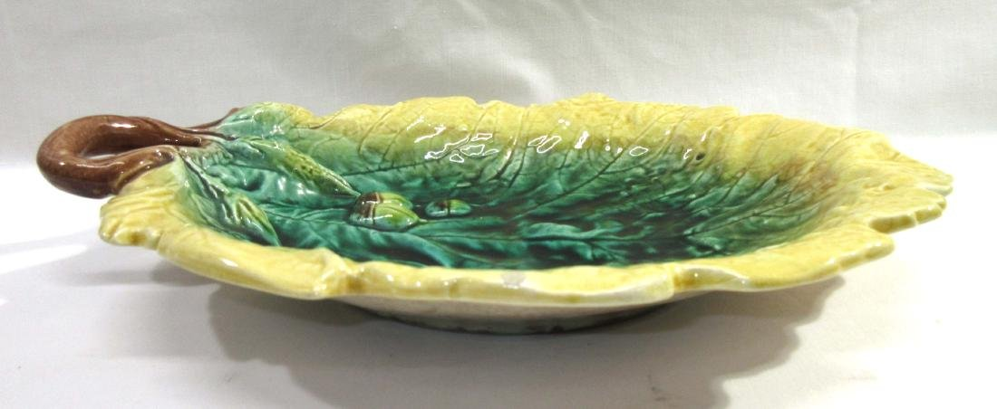 English Majolica Leaf Platter - 2