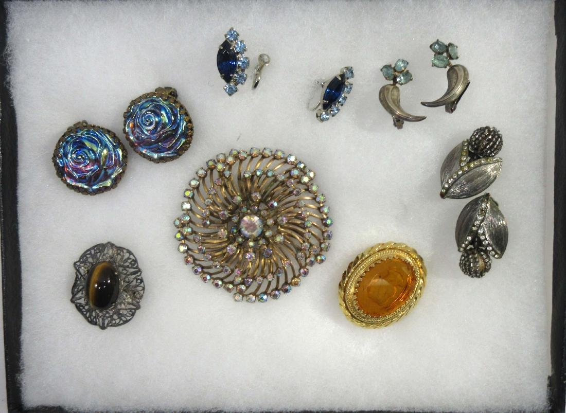Lot of Brooches, Pins, & Earrings - 2