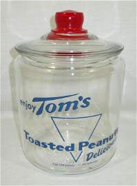 Tom's Peanut Store Jar