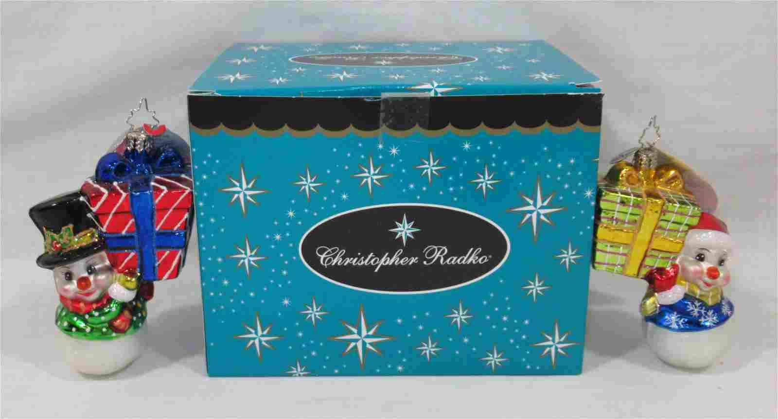 2 Christopher Radko Christmas Ornament N.I.B.