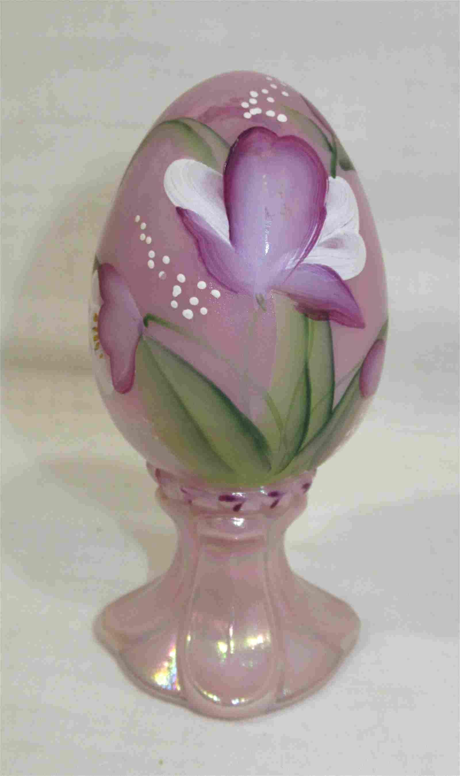 H.P. Fenton Iridescent Egg