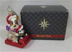 Christopher Radko Christmas Ornament NIB