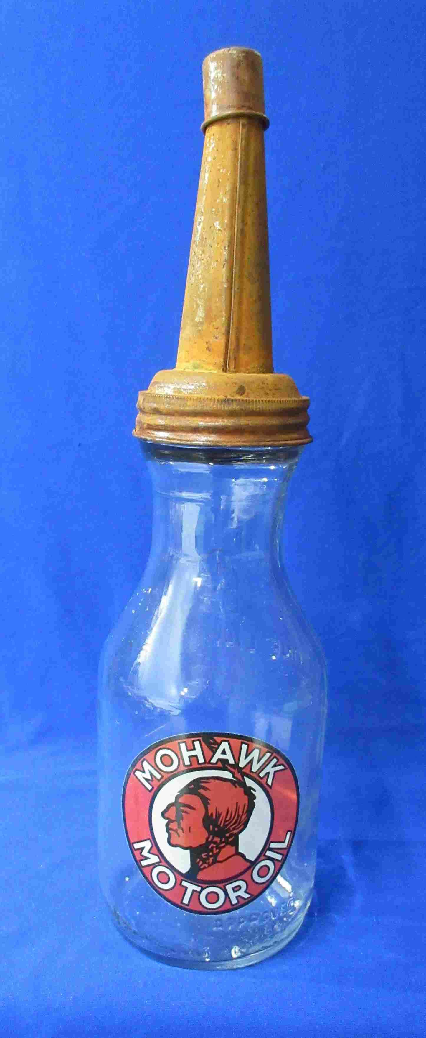 Modern Glass Motor Oil Bottle
