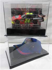 NASCAR 1:24 Jeff Gordon Car & Cap in Display