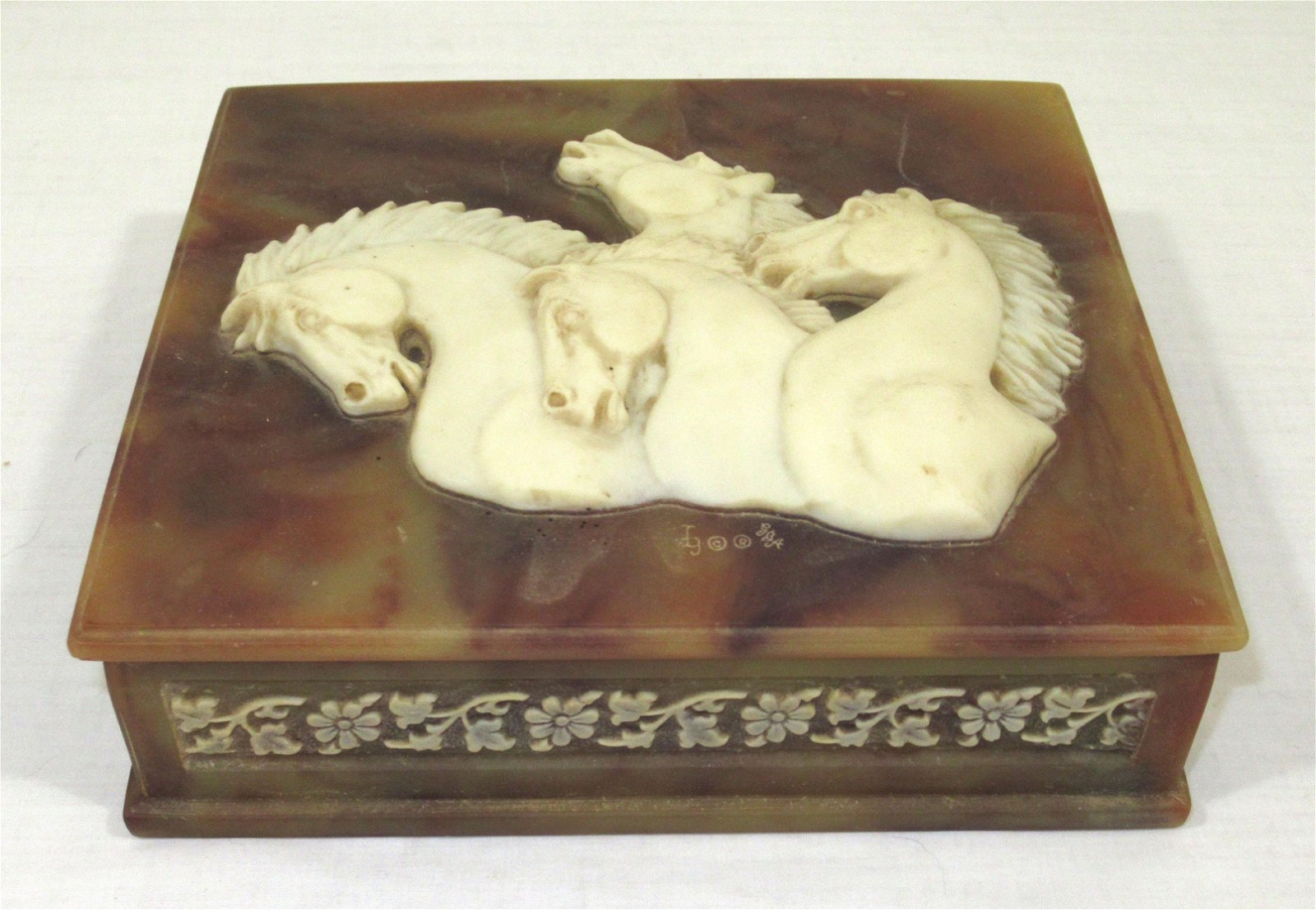 Incolay Box w/ Horses