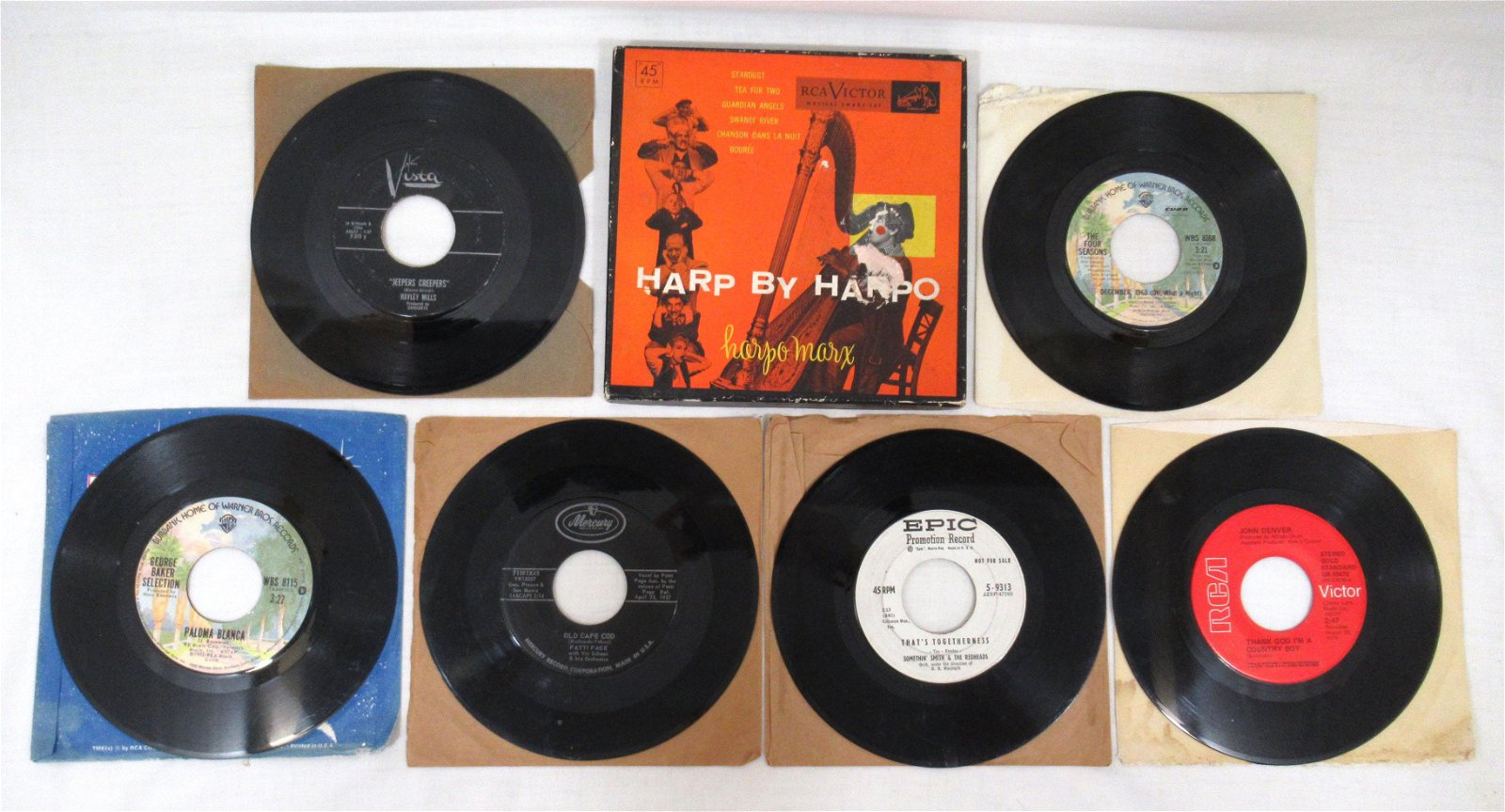 (8) 45rpm Records Inc. 2 Harp by Harpo Marx