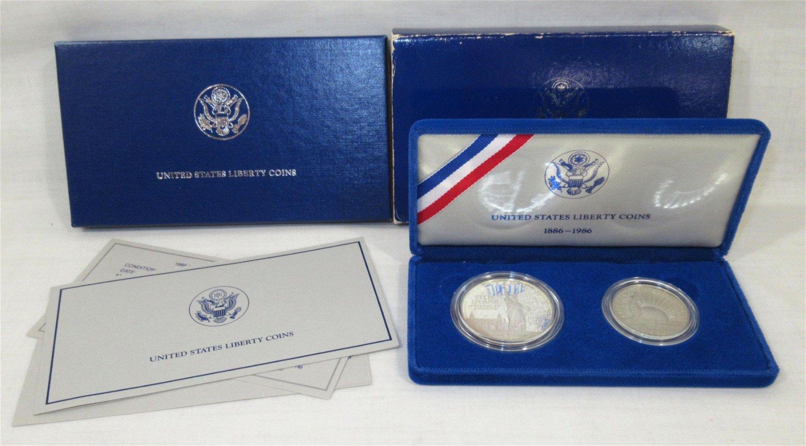 1986 .900 Silver Dollar & a Half Dollar