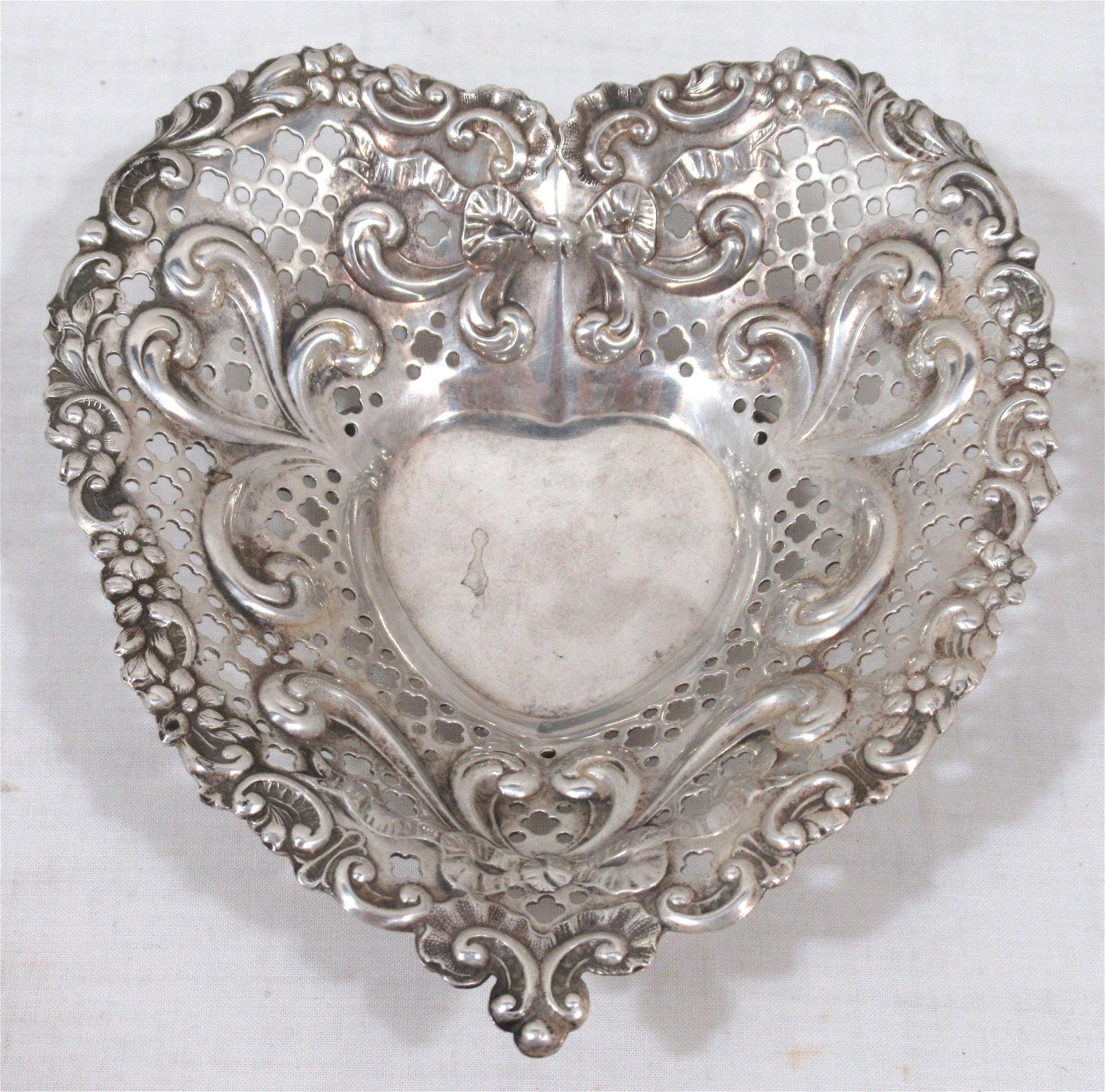 Gorham Sterling Heart Dish