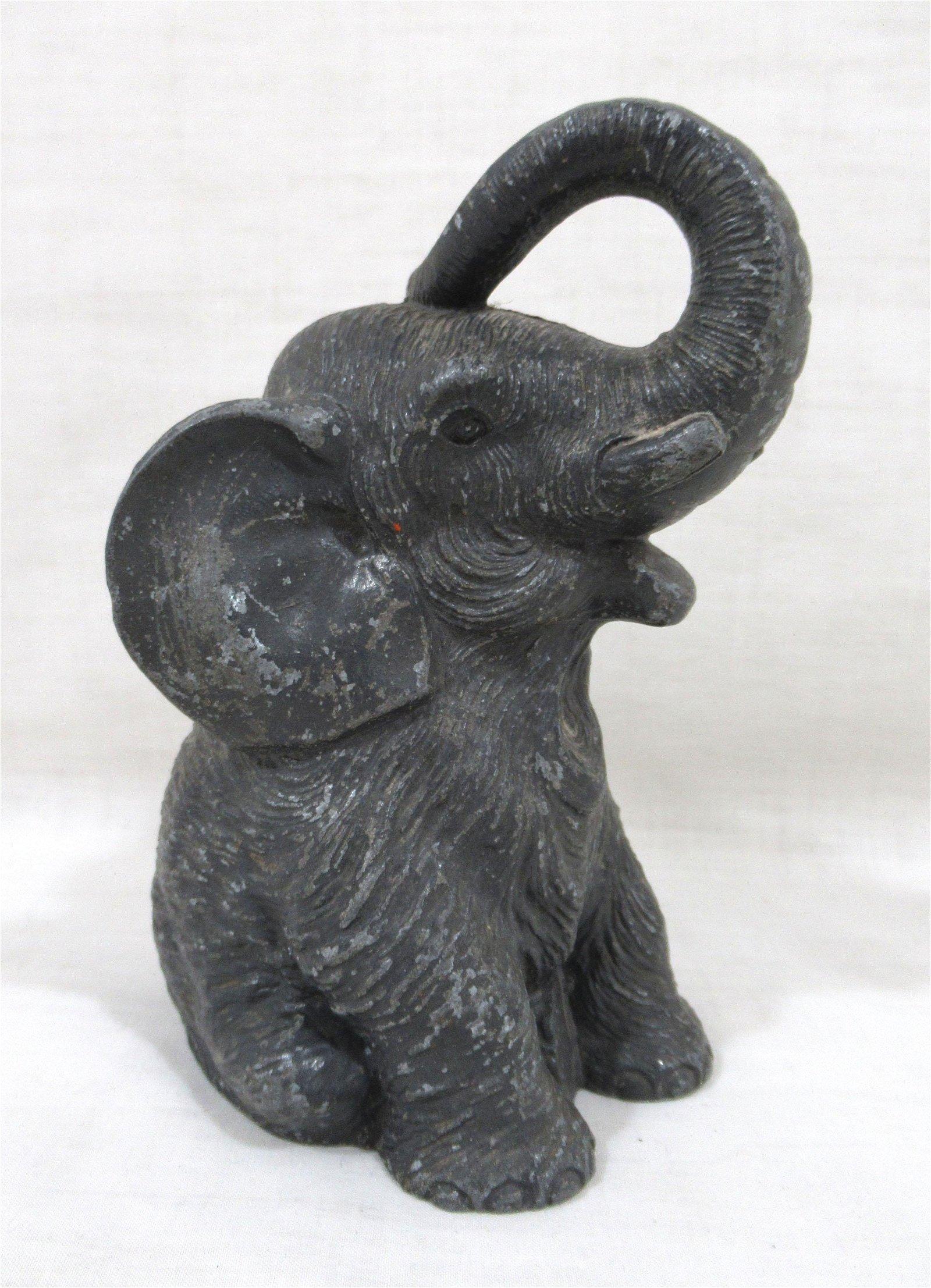 Cast Metal Elephant Bank