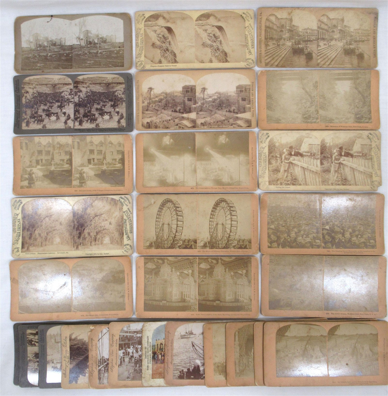 30 Stereoscopic View Cards
