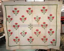Hand Made & Hand Quilted Quilt Carolina Lily