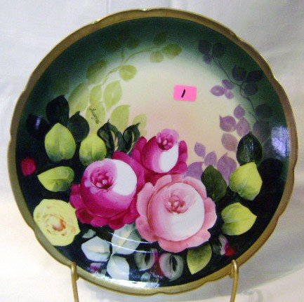 1: Hand-painted Austria Plate