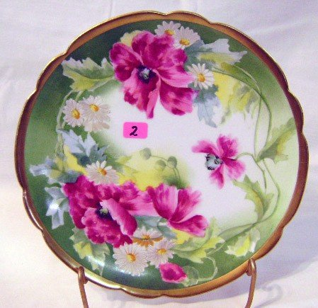2: Hand-painted Limoges Plate